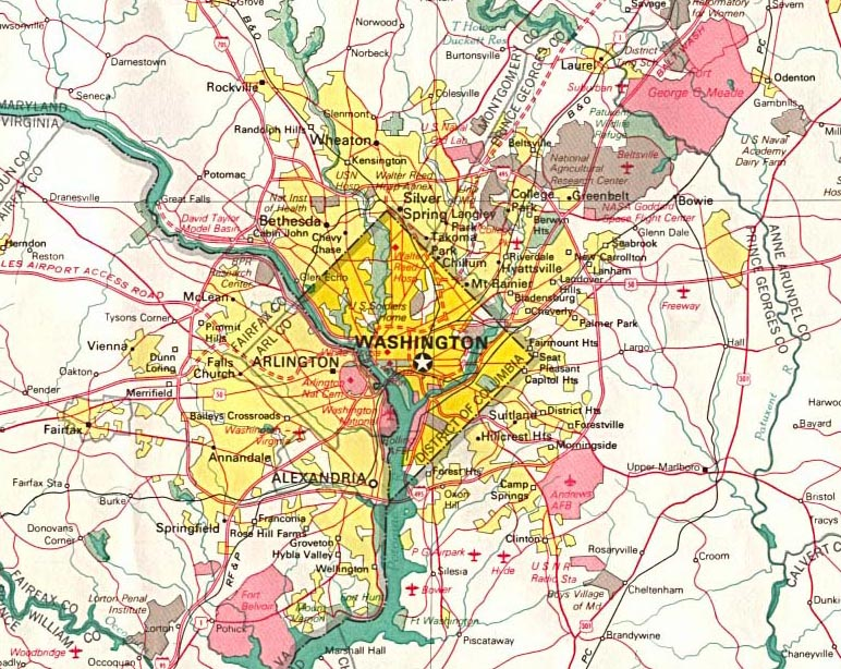 Washington dc Metro Area Map Map of Washington dc For Part