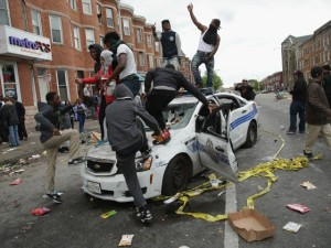 Baltimore thugs proving they are thugs. Source: Breitbart