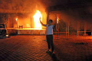 Fire at the US Consulate, Benghazi, Libya. Source: www.aljazeera.com